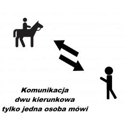 Bezprzewodowy system komunikacji dla stadnin koni - dwukierunkowy jedna osoba mówi